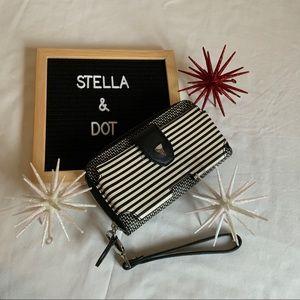 Stella & Dot Madison Tech Breton Stripe Wallet